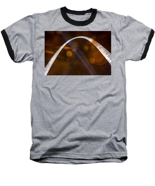 The Silver Gateway Arch Baseball T-Shirt by Semmick Photo