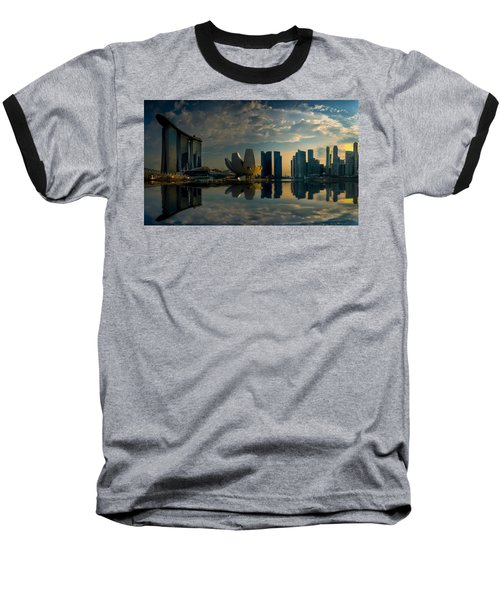 The Singapore Skyline Baseball T-Shirt