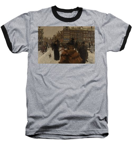 The Singel Bridge At The Paleisstraat In Amsterdam, 1896 Baseball T-Shirt