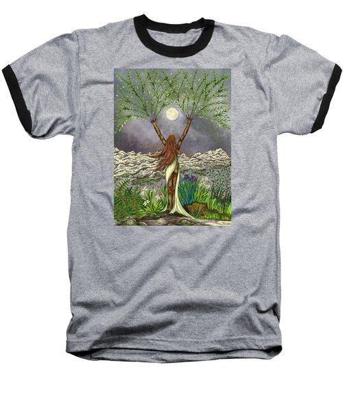 The Singing Girl Baseball T-Shirt by FT McKinstry