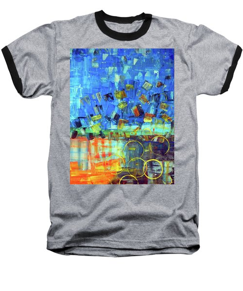 Baseball T-Shirt featuring the painting The Sky Fell by Everette McMahan jr