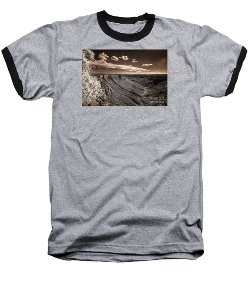 The Sky Tilts Down To The Canyon Baseball T-Shirt by William Fields