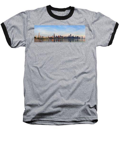 The Skyline Of Chicago At Sunrise Baseball T-Shirt
