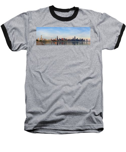 The Skyline Of Chicago At Sunrise Baseball T-Shirt