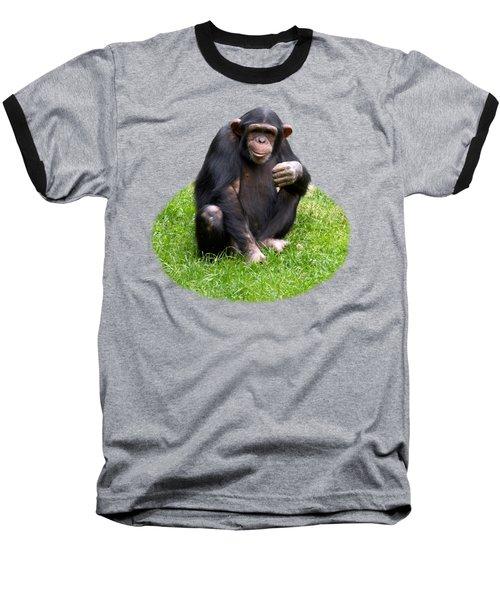 The Smiling Chimp Transparent Baseball T-Shirt