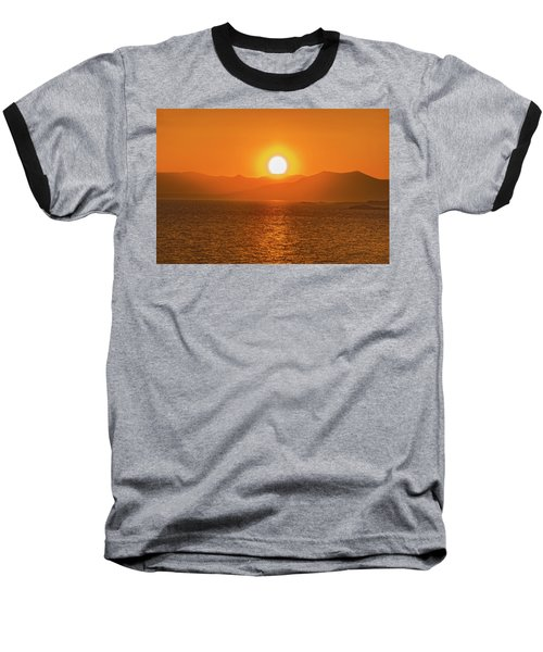 The Smoke From A Forest Fire Gave Us This Tangerine Sky Over 11-mile Reservoir State Park, Colorado. Baseball T-Shirt