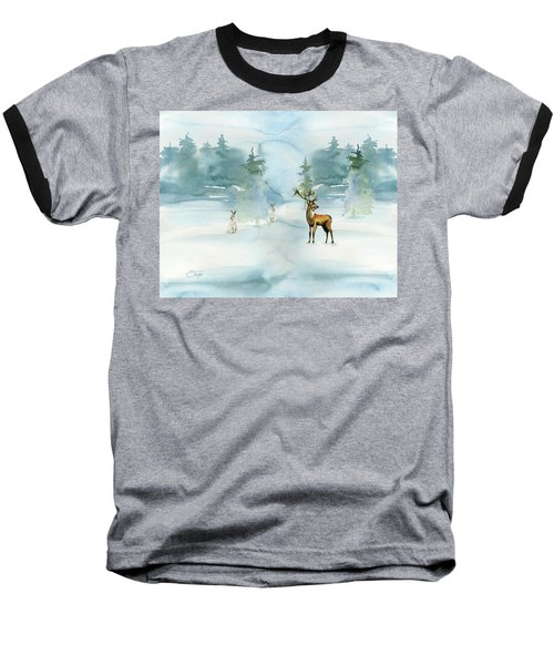 Baseball T-Shirt featuring the digital art The Soft Arrival Of Winter by Colleen Taylor