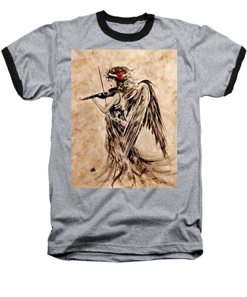 The Sound Of An Angel. Baseball T-Shirt by Cristina Mihailescu