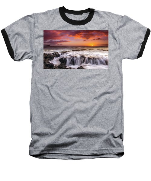 The Sound Of The Sea Baseball T-Shirt by James Roemmling