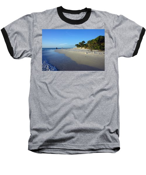 The South End Of Barefoot Beach In Naples, Fl Baseball T-Shirt