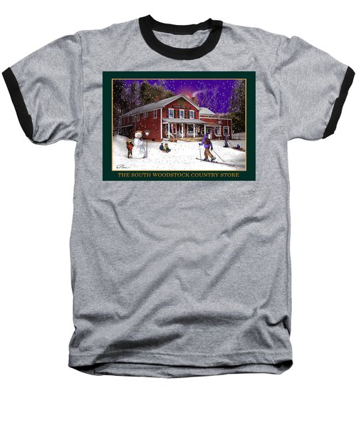 The South Woodstock Country Store Baseball T-Shirt by Nancy Griswold