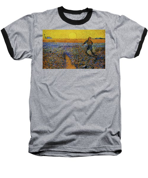 Baseball T-Shirt featuring the painting The Sower by Van Gogh