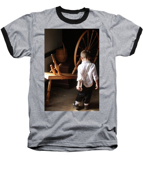 Baseball T-Shirt featuring the photograph The Spinning Wheel by Emanuel Tanjala