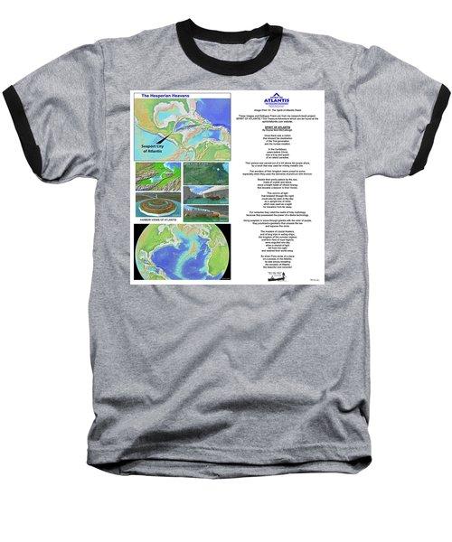 The Spirit Of Atlantis Poem Baseball T-Shirt