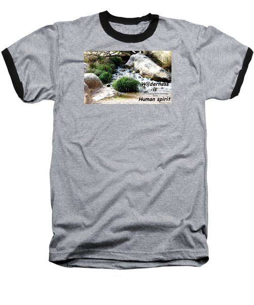 The Spirit Of Water Baseball T-Shirt by David Norman