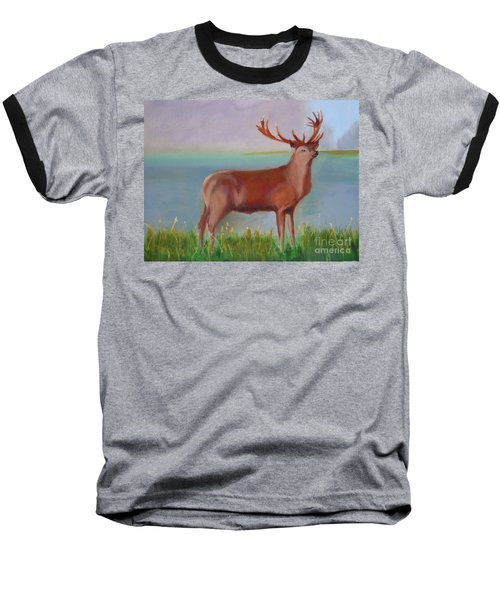 Baseball T-Shirt featuring the painting The Stag by Rod Jellison