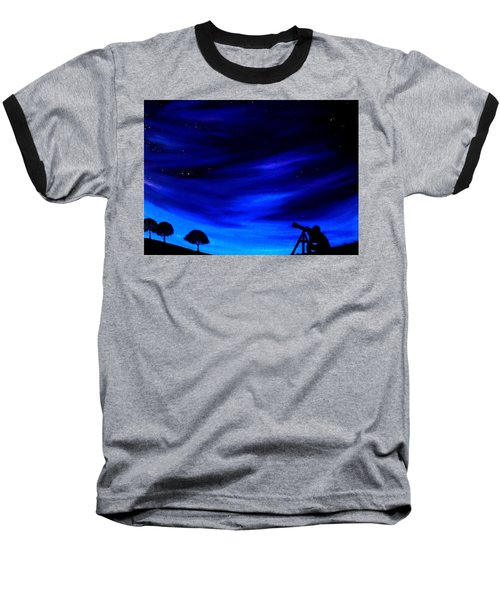 The Star Gazer Baseball T-Shirt by Scott Wilmot