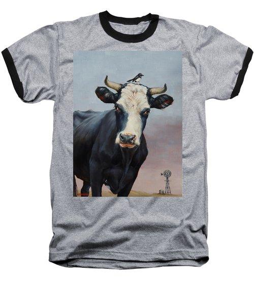 The Stare Baseball T-Shirt by Margaret Stockdale