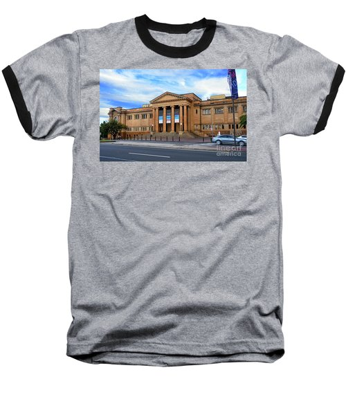 Baseball T-Shirt featuring the photograph The State Library Of New South Wales By Kaye Menner by Kaye Menner
