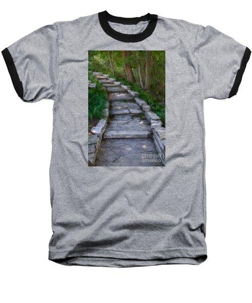 The Steps Baseball T-Shirt by David Blank