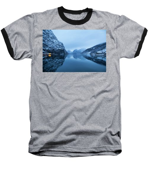 Baseball T-Shirt featuring the photograph The Stillness Of The Sea by David Chandler