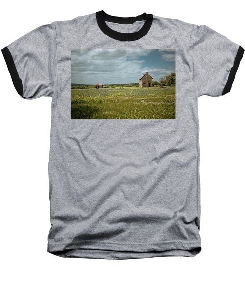 Baseball T-Shirt featuring the photograph The Stone House by Linda Unger