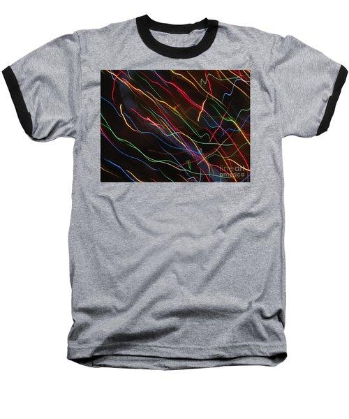 Baseball T-Shirt featuring the photograph The Storm Of Falling Stars. Dancing Lights Series by Ausra Huntington nee Paulauskaite