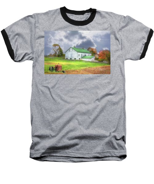Baseball T-Shirt featuring the digital art The Storms Coming by Sharon Batdorf