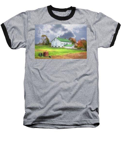 The Storms Coming Baseball T-Shirt by Sharon Batdorf