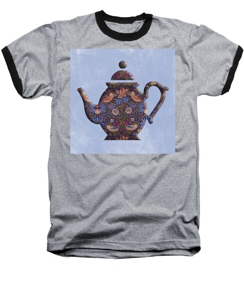 The Strawberry Thief Pattern Teapot Baseball T-Shirt