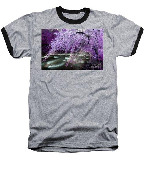 The Stream's Healing Rhythm Baseball T-Shirt by Michael Eingle