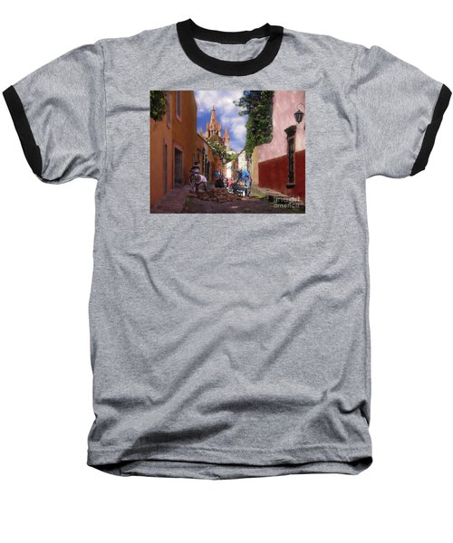 The Street Workers Baseball T-Shirt by John  Kolenberg
