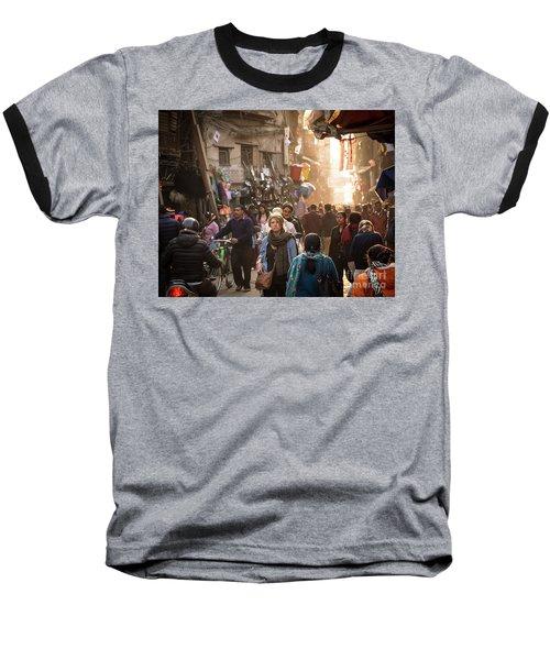 The Streets Of Kathmandu Baseball T-Shirt