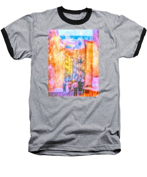 The Streets Of Prague Baseball T-Shirt