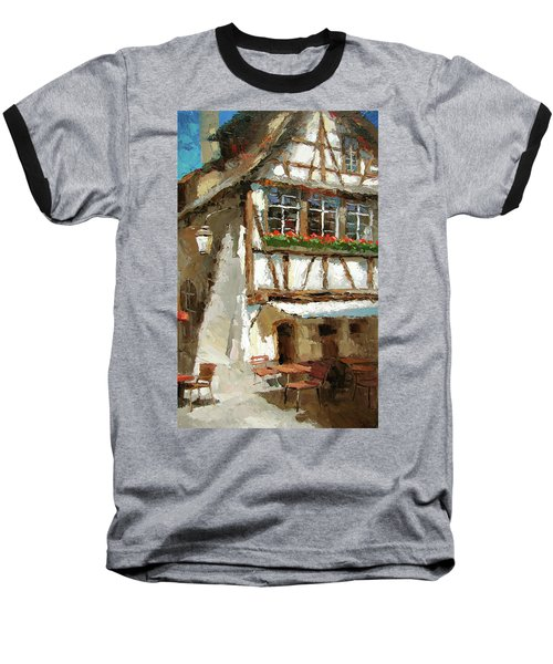 Baseball T-Shirt featuring the painting The Streets Of Strasbourg by Dmitry Spiros