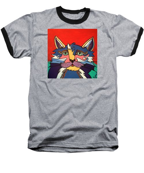 The Streetwise Old Colorful Cat Prints By Robert Erod Baseball T-Shirt