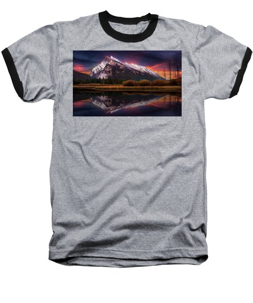 Baseball T-Shirt featuring the photograph The Sun Also Rises by John Poon