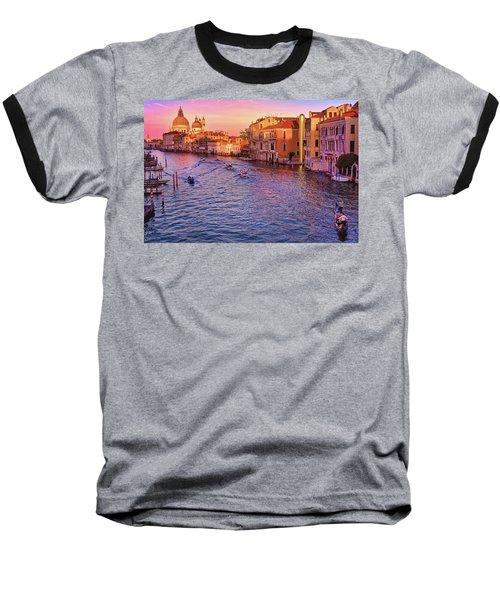 Santa Maria Della Salute From Ponte Dell'accademia In Venice, Italy Baseball T-Shirt