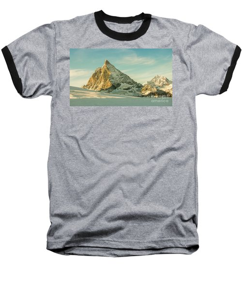 The Sun Sets Over The Matterhorn Baseball T-Shirt