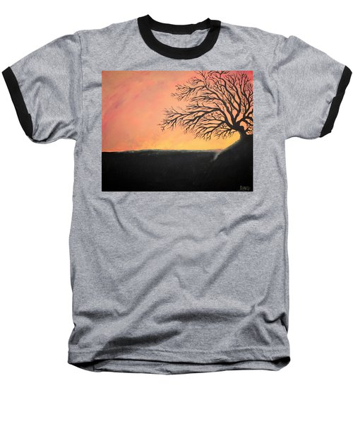 Baseball T-Shirt featuring the painting The Sun Was Set by Antonio Romero