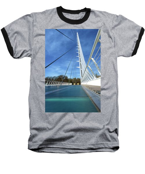 Baseball T-Shirt featuring the photograph The Sundial Bridge by James Eddy