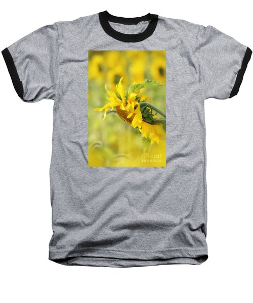 Baseball T-Shirt featuring the photograph The Sunflower by Lila Fisher-Wenzel