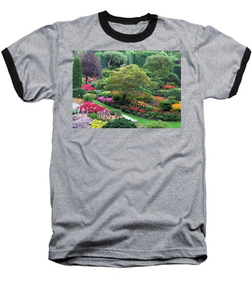 The Sunken Garden At Dusk Baseball T-Shirt