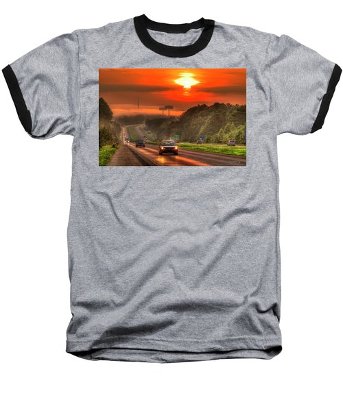 The Sunrise Commute Georgia Interstate 20 Art Baseball T-Shirt