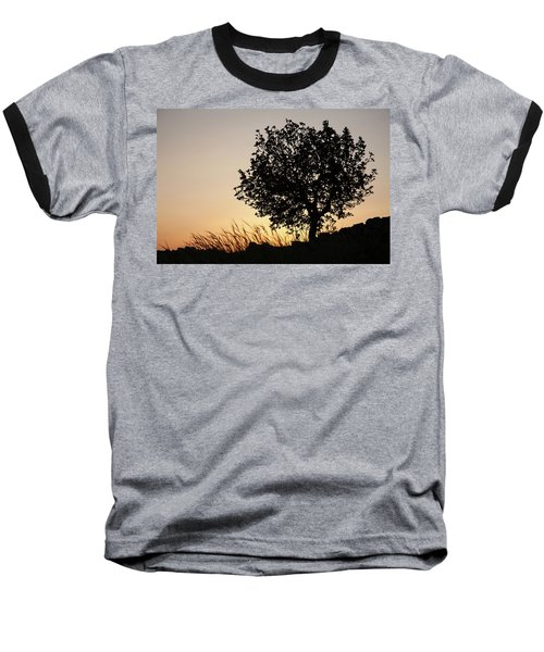 Sunset On The Hill Baseball T-Shirt by Yoel Koskas