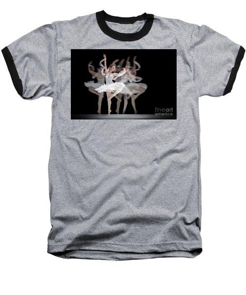 Baseball T-Shirt featuring the photograph The Swan Ballet Dancer by Dimitar Hristov