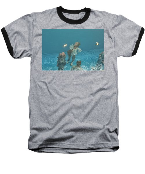 The Swimming Pool Baseball T-Shirt by Patricia Hofmeester