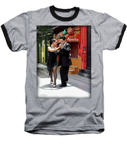 The Tango Baseball T-Shirt by Joan  Minchak