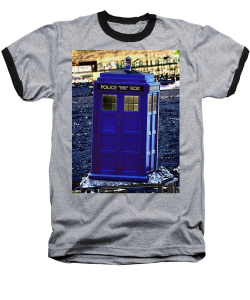 The Tardis Baseball T-Shirt by Steve Purnell