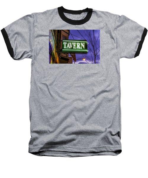The Tavern On Lincoln Baseball T-Shirt by Raymond Kunst